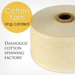 Ring carded - Cotton yarn high quality | Dashoguz cotton spinning factory