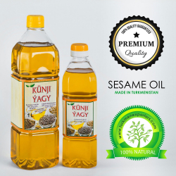 Sesame oil wholesale for export from Turkmenistan | Nurber sesame oil production factory