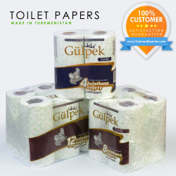 Toilet papers wholesale for export from Turkmenistan | Hunarli Yol economic society