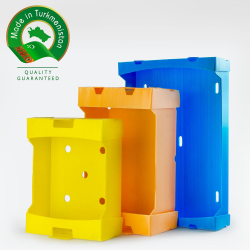 Corrugated plastic boxes wholesale for export from Turkmenistan | Sabyrly Dostlar individual enterprise