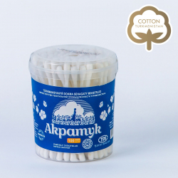 Cotton buds Made in Turkmenistan | Ashgabat factory for production of medical wadding and cosmetic cotton products